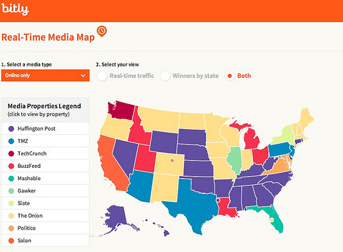 Bitly Real-Time Media Map