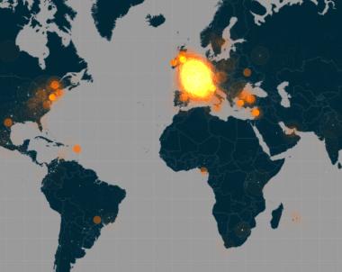 #JesuisCharlie Cartographie Temps réel de réaction sur Twitter