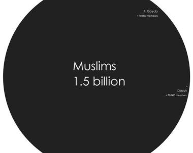 Visualisation & Ratio : Muslims , Al Qaeda & Daesh …