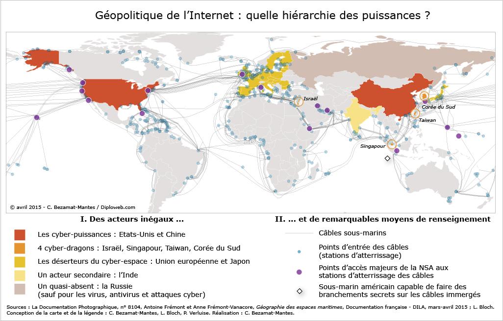 #Géopolitique & #CyberPuissance : La Carte de @diploweb via @crid