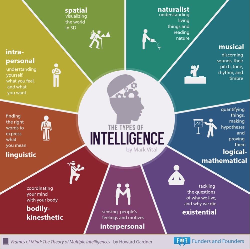 Various Kind of intel ;) #Infoviz : divers type d'intelligence quelle est la votre ?