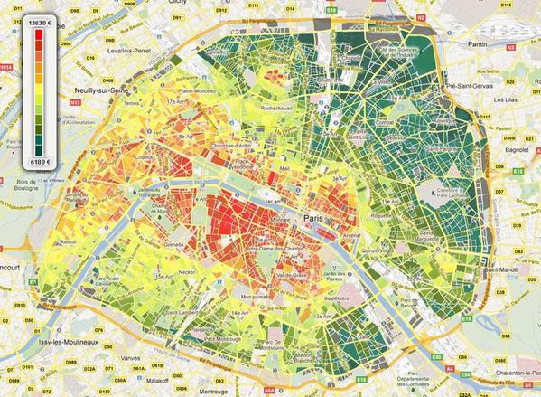 cartographie du prix du m2 immobilier en france thx thibaudprouveur as map complexity. Black Bedroom Furniture Sets. Home Design Ideas